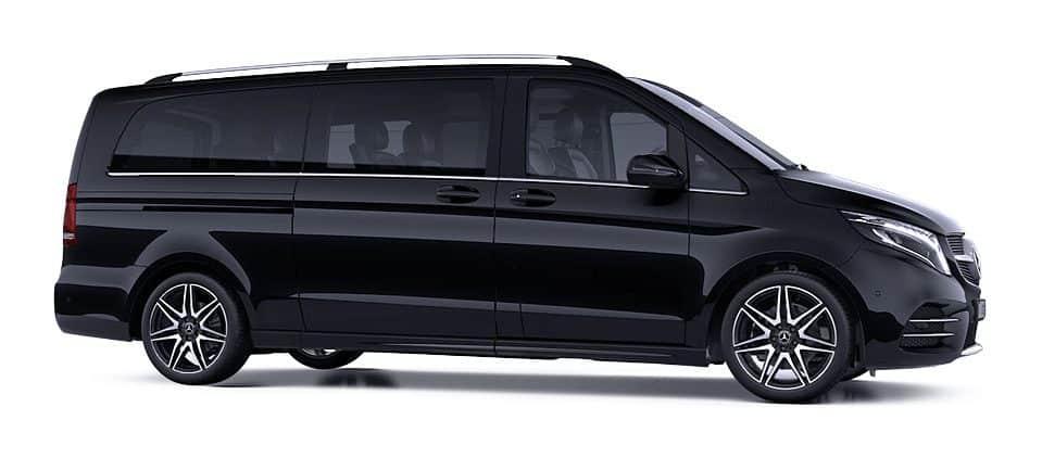 Black Mercedes-Benz V-Class V250d Business Van DM Executive Line Chauffeur Service Ireland